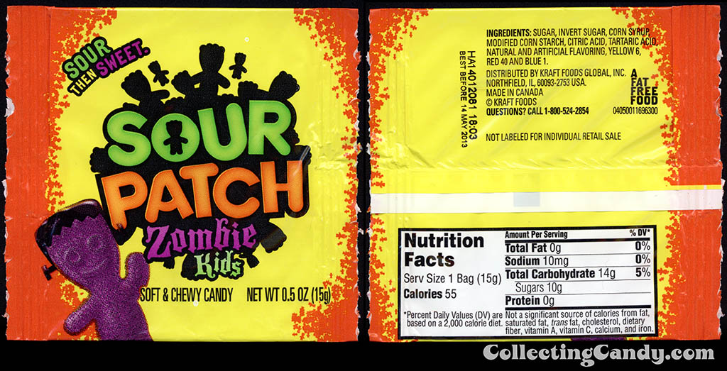 Kraft - Sour Patch Zombie Kids - 1.2 oz trick-or-treat pack - October 2012