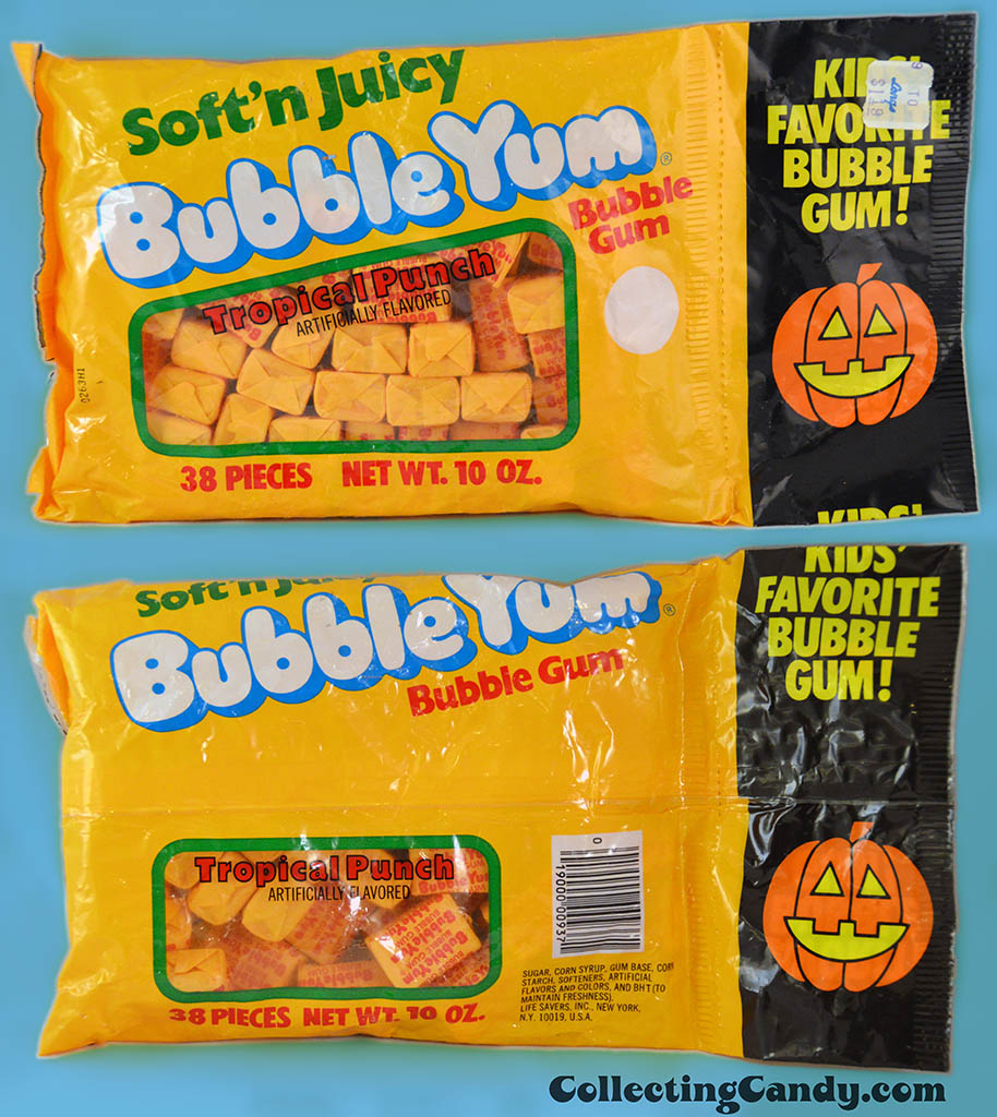 Lifesavers - Bubble Yum Tropical Punch - 10 oz 38-piece Halloween multi-bag package - late 1970's