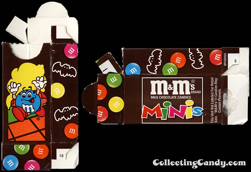 Mars - M&M's Minis - Halloween mini fun-size candy box - 1990's