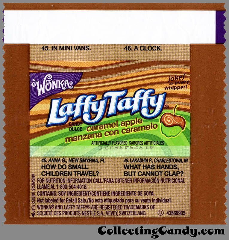 Nestle - Wonka - Laffy Taffy - Caramel Apple Limited Edition - individual size wrapper - September 2014