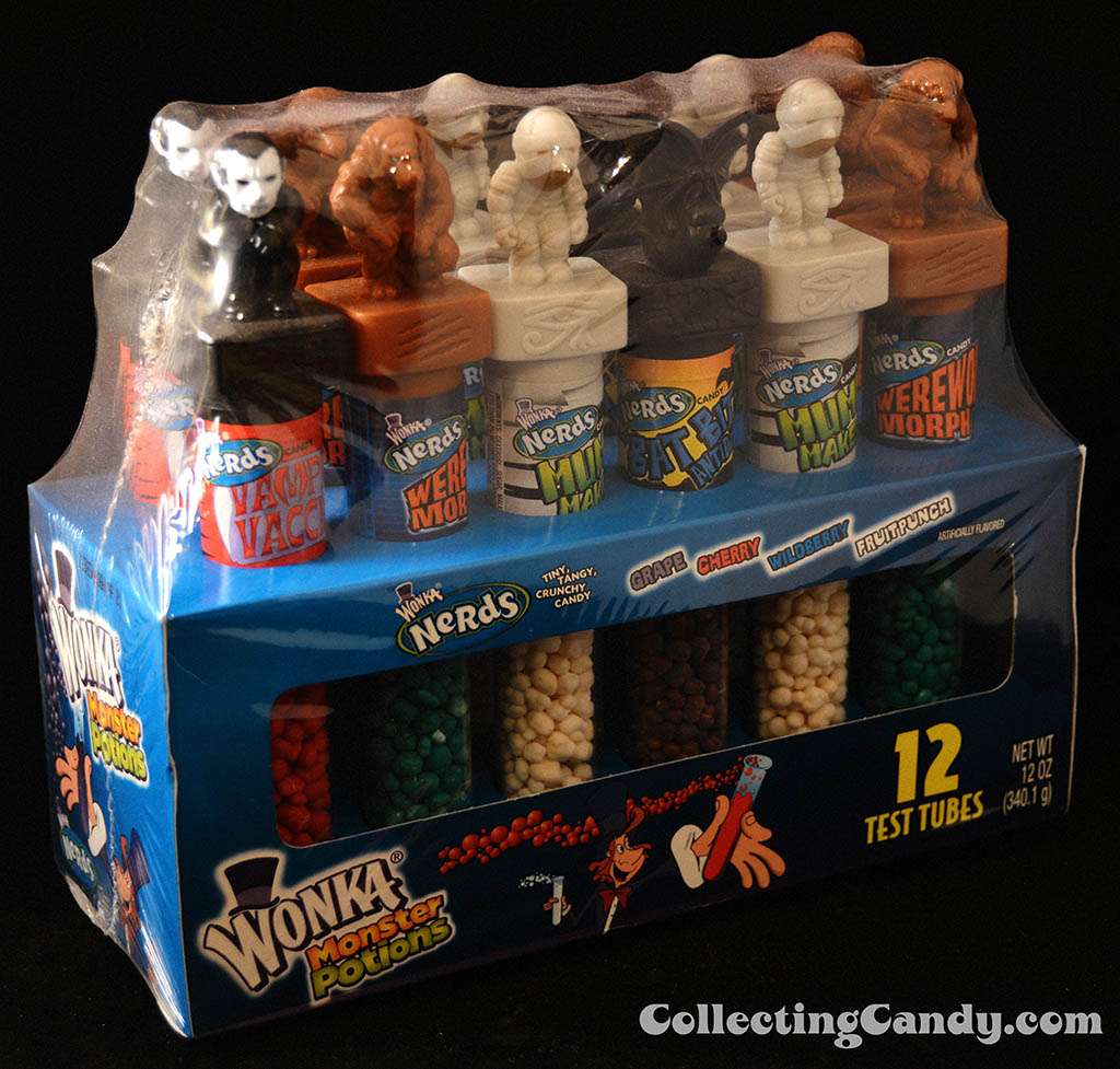 Nestle Wonka - Wonka Nerds Monster Potions - 12oz Halloween novelty candy package - 2007 - B