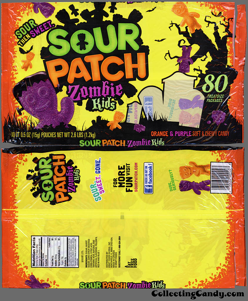 Sour Patch Zombie Kids 2.6 lb Halloween multi-bag package - October  2012