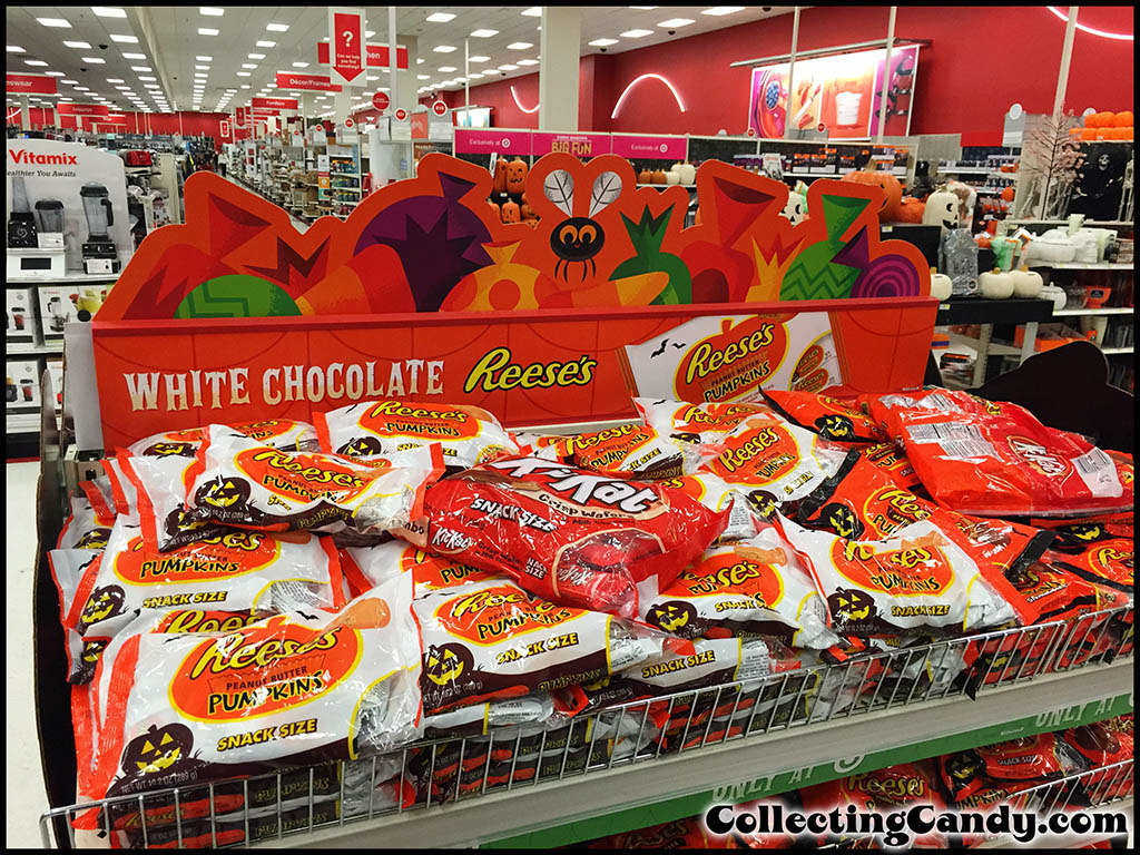 Target store Halloween display for White Chocolate Reese's Pumpkins - possibly a 2014 Target Exclusive - B