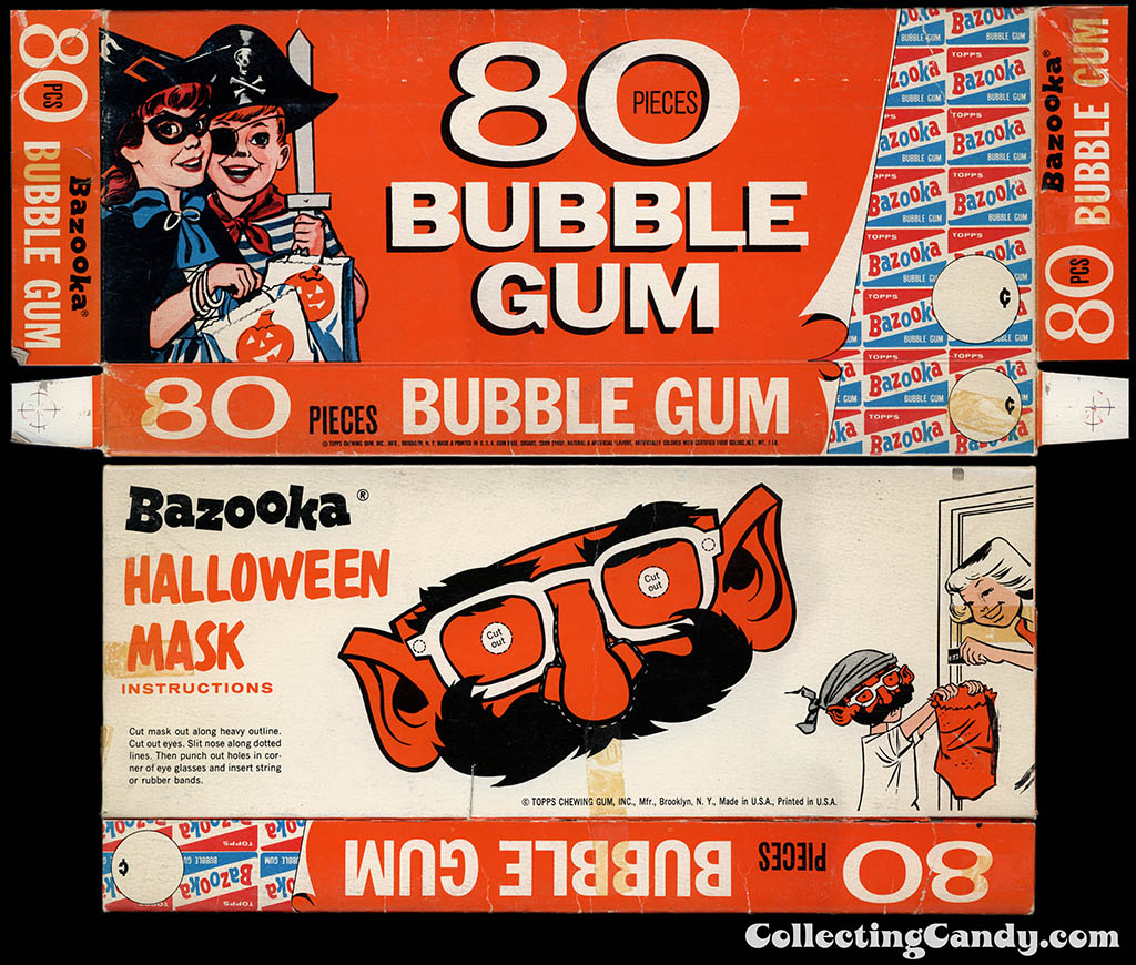Topps - Bazooka Bubble Gum - 80-Pieces Halloween Mask box - 1960's