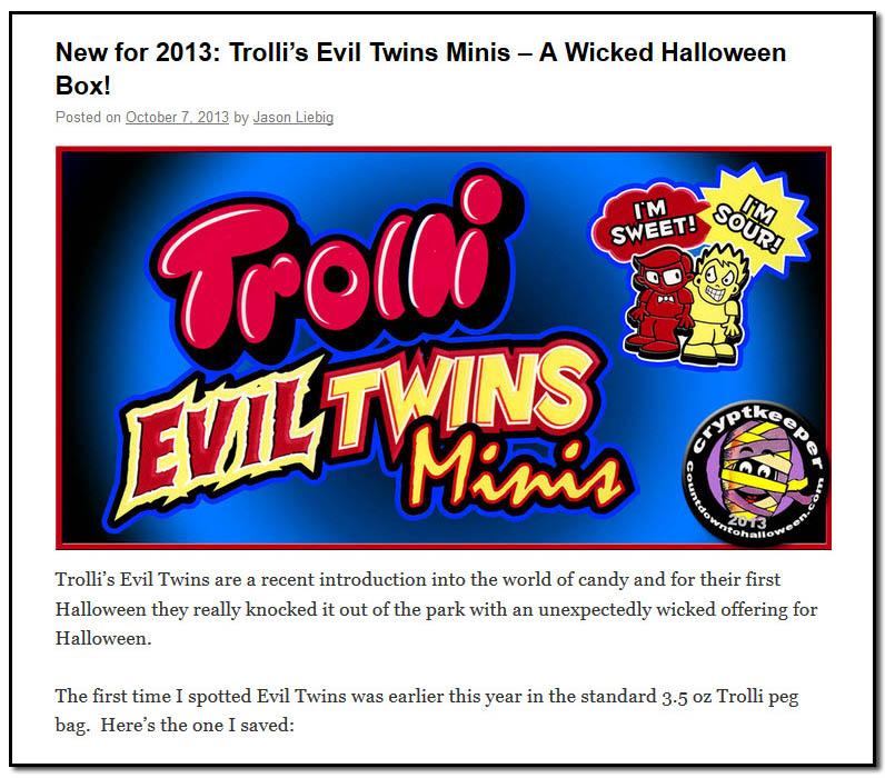 Trolli Evil Twins Minis - October 7th, 2013