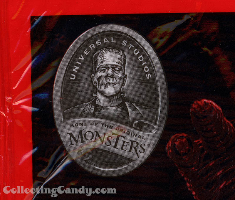 Twizzlers Frankenstein Universal Studios Home of the Original Monsters logo close-up - 2014