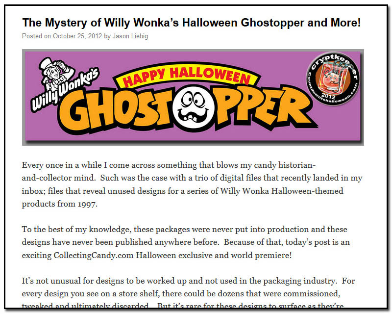 The Mystery of Willy Wonka's Halloween Ghostopper and More - October 25th, 2012