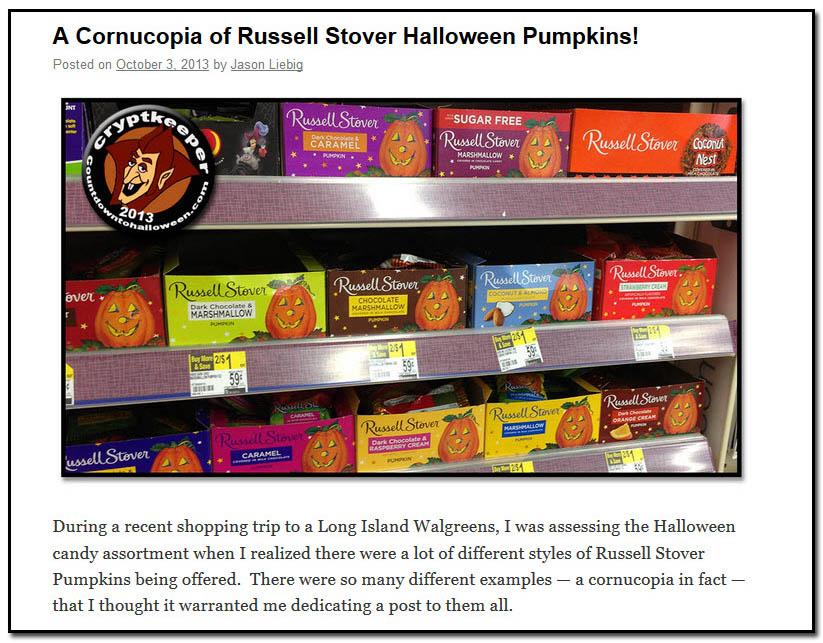 Cornucopia of Russell Stover Halloween Pumpkins - October 3rd, 2013