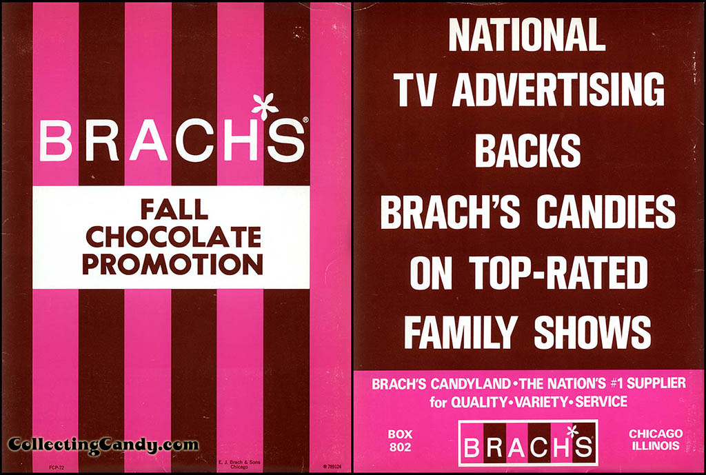 Brachs - 1972 Fall Chocolate Promotion Folder - Front & Back Cover