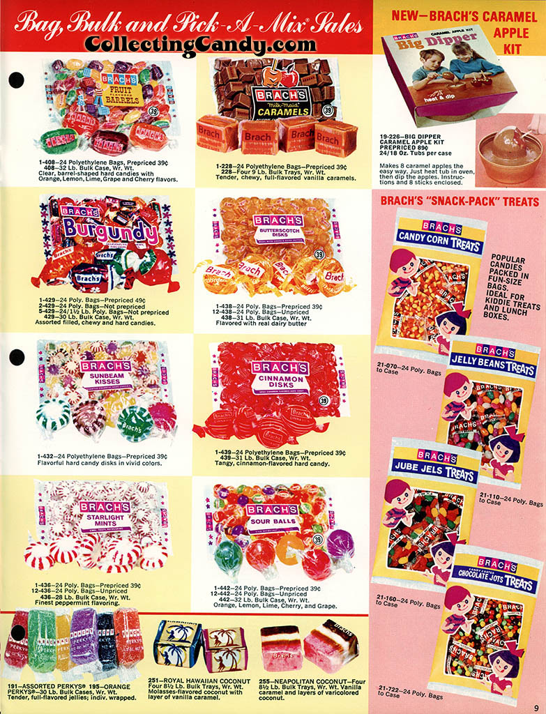 Brachs - Fall 1972 - Pure Chocolates and Fresh Candies catalog page 09