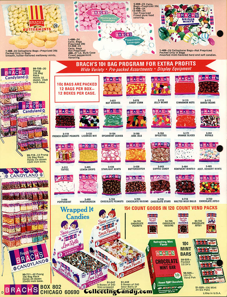 Brachs - Fall 1972 - Pure Chocolates and Fresh Candies catalog page 12
