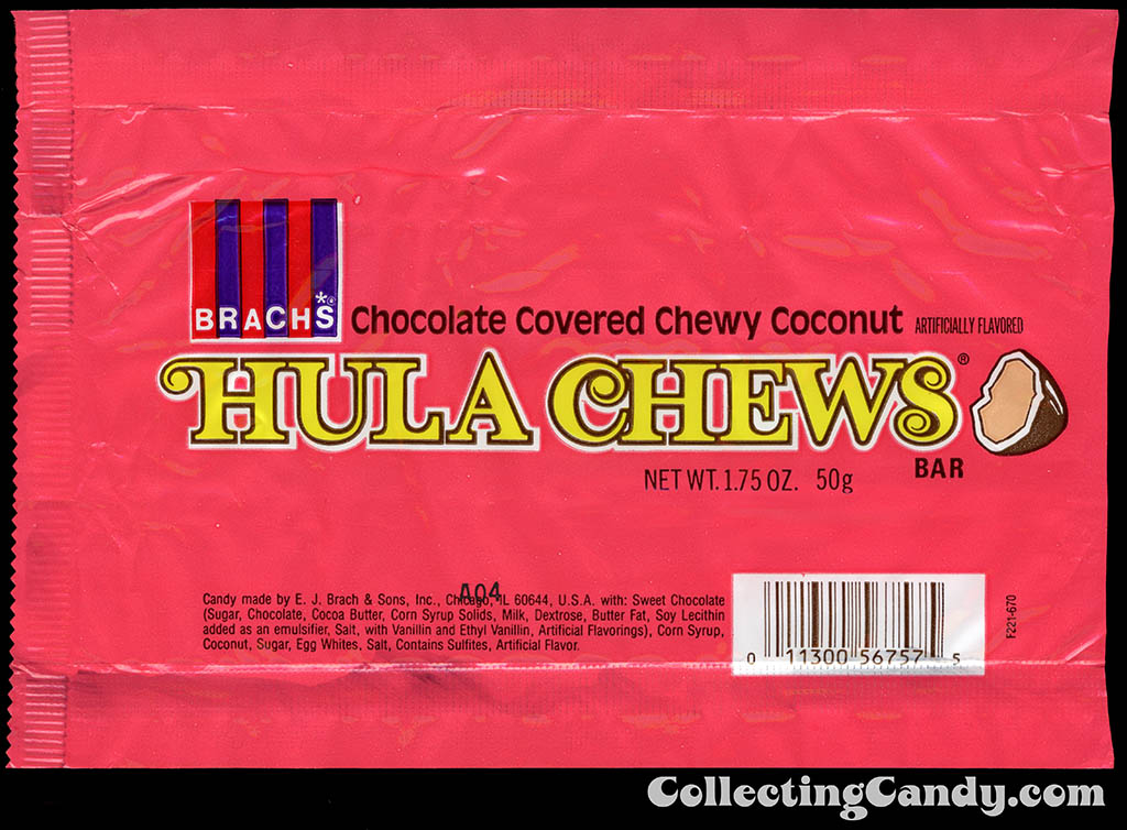 Brach's - Hula Chews - 1.75 oz candy wrapper - 1983