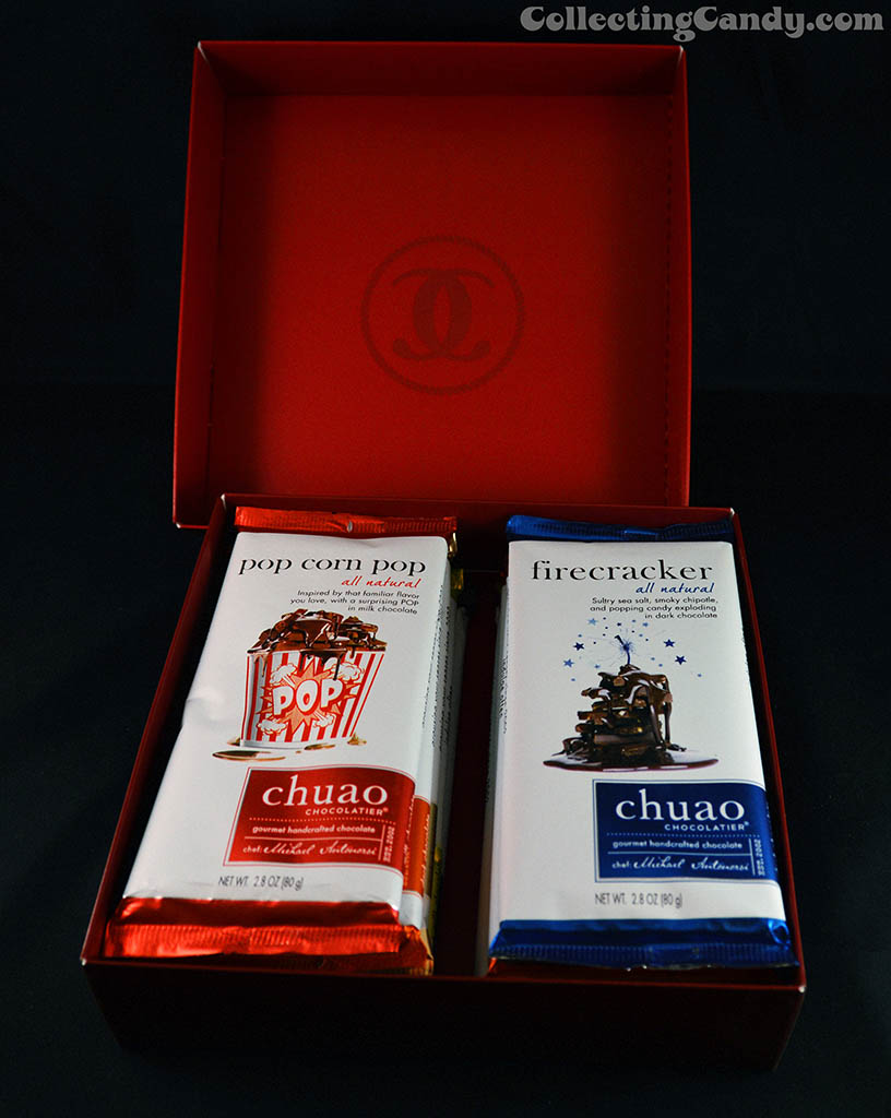 Chuao Chocolatier - Ten Bar assortment gift box opened - 2014