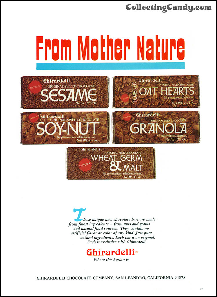 Ghirardelli - From Mother Nature - candy trade magazine ad - July 1974