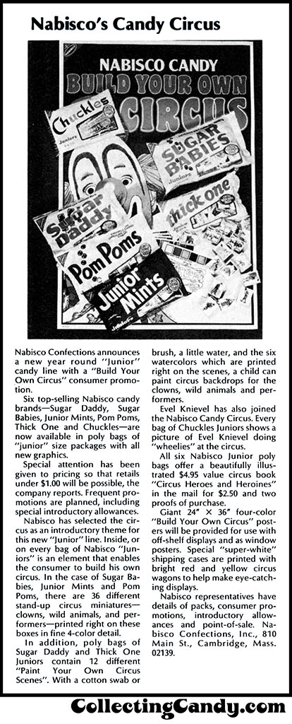 Nabisco Confections - Build Your Own Circus - trade clipping - April 1975