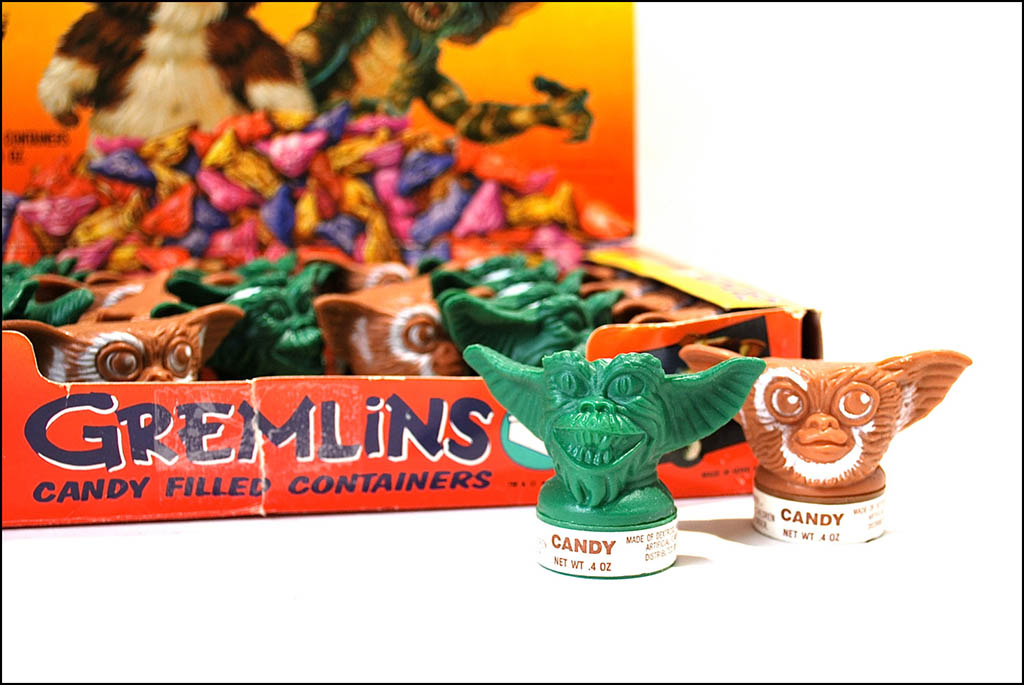 Topps Gremlins candy containers - 1980's - Image courtesy Wonderland Toys