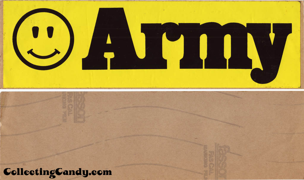 Army - Smiley Face bumper sticker - 1960s or 1970s