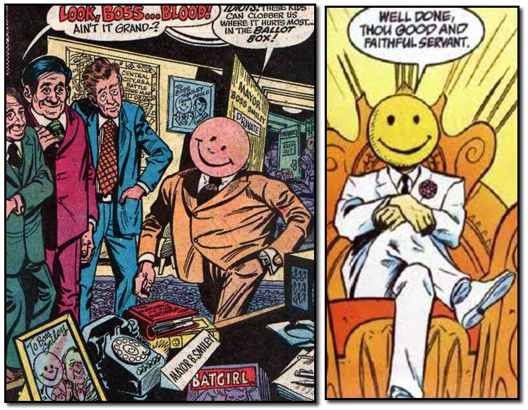 DC Comics Boss Smiley from Prez Number One and later Vertigo Appearance