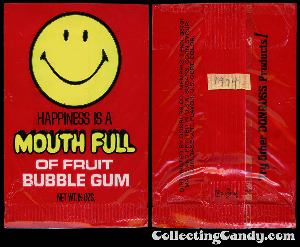 Donruss - Mouth Full - Fruit - 1 1/2 oz bubblegum plastic wrapper - 1974