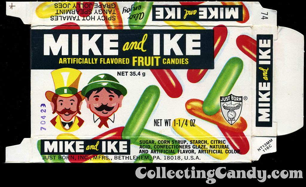 Just Born - Mike and Ike - no offer - candy box - 1970's