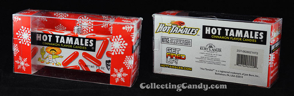 Kurt S Adler - Just Born Christmas Ornaments - 1960's-1970's Hot Tamales candy box - 2014