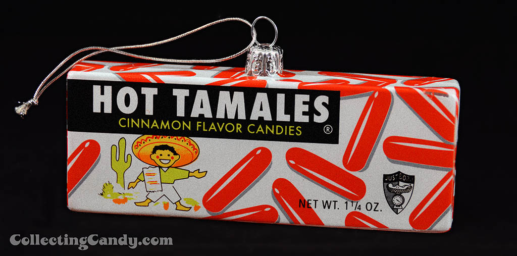 Kurt S Adler - Just Born Christmas Ornaments - 1960's-1970's Hot Tamales candy box - opened - 2014