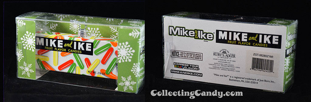 Kurt S Adler - Just Born Christmas Ornaments - 1960's-1970's Mike and Ike candy box - 2014