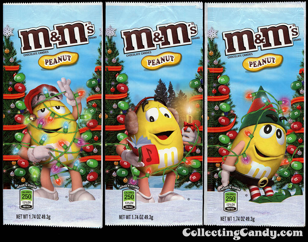 M&M-Mars - M&M's Holiday Packs - Peanut - Yellow - 1.74 oz Christmas candy packages - December 2012