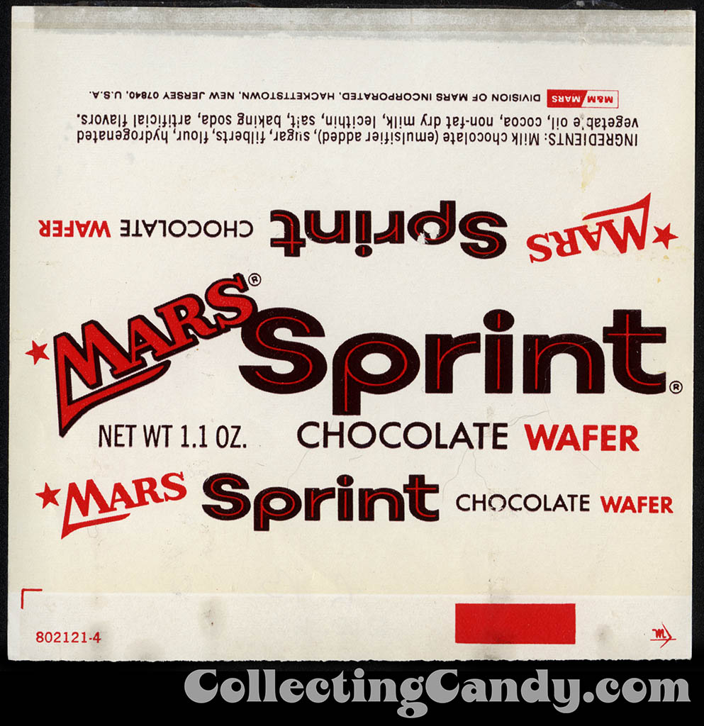Mars - Mars Sprint - chocolate wafer - 1_1 oz candy bar wrapper - 1970's