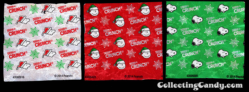 Nestle - Crunch Jingles - Bell-Shaped Chocolates - Peanuts Charlie Brown - individual foil wrappers - November 2014