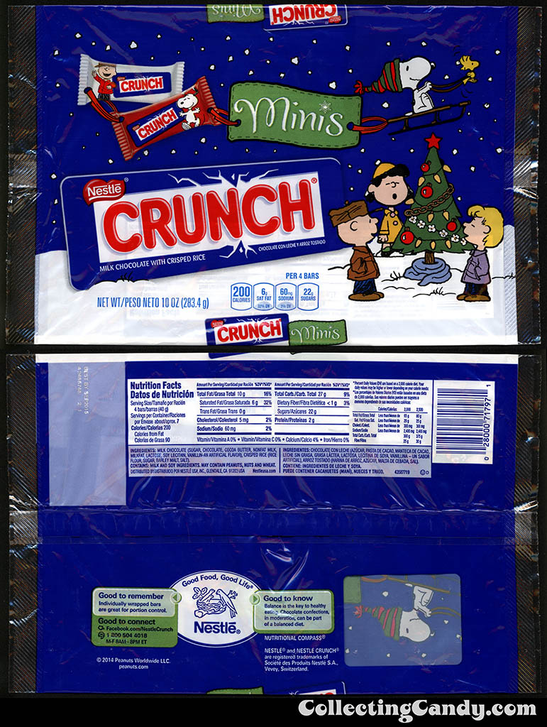 Nestle - Crunch Minis - Peanuts - 10oz Christmas candy multi-package - November 2014