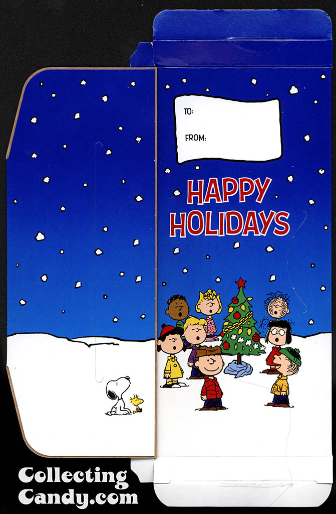 Nestle - Crunch - Peanuts Charlie chocolate bar box interior graphics open flap - November 2014