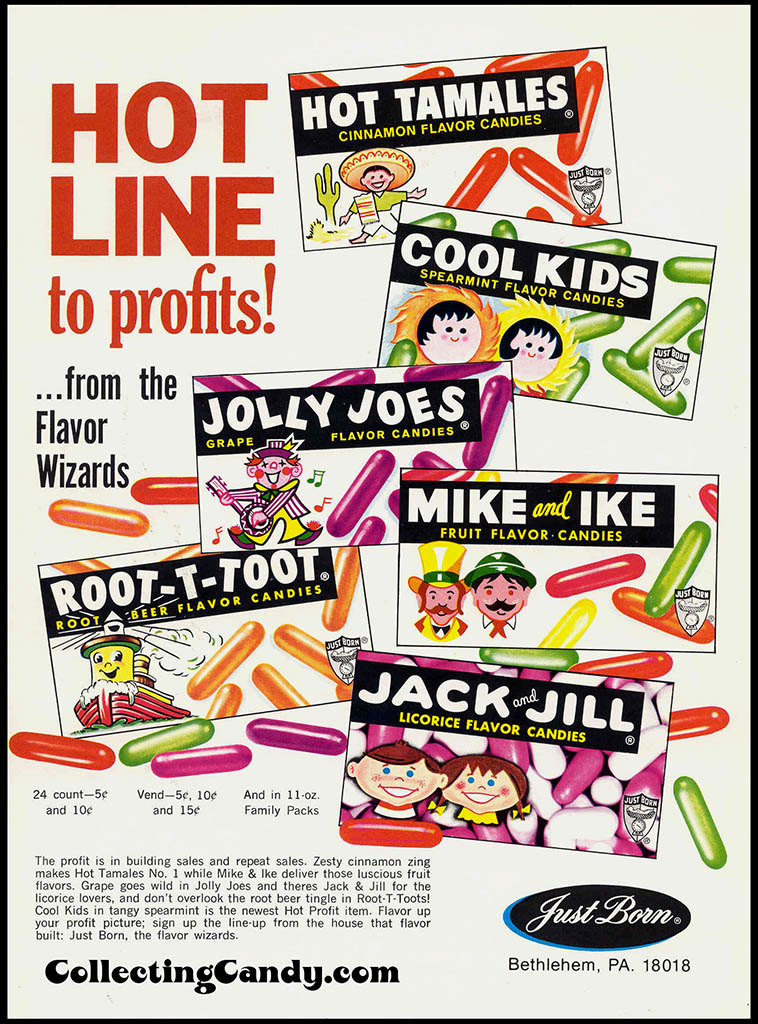 Just Born candy industry trade ad - early 1970's