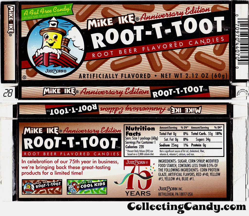JustBorn - Mike and Ike Anniversary Edition Root-T-Toot box - 1998