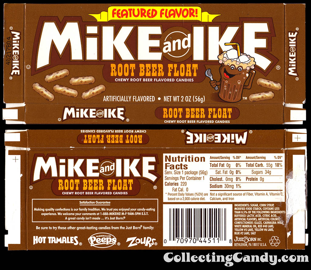 JustBorn - Mike and Ike Featured Flavor Root Beer Float - 2003