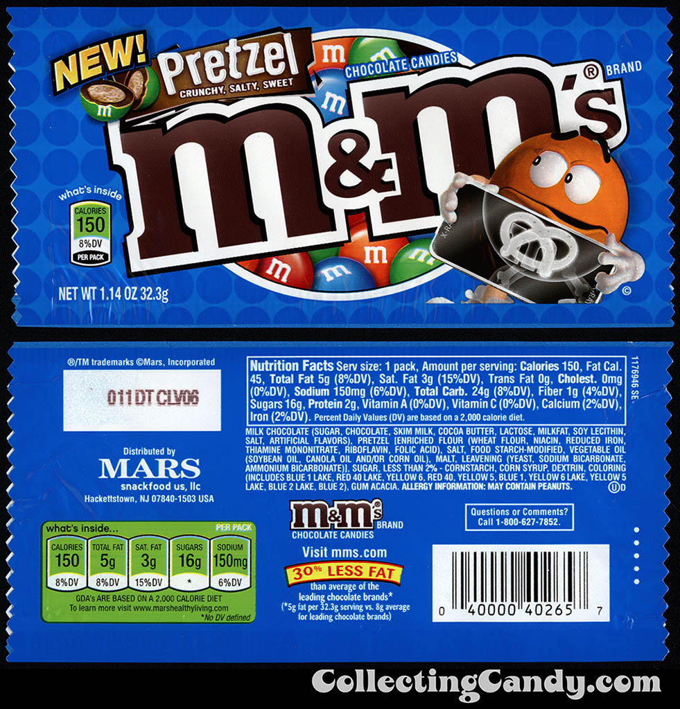 M&M-Mars - M&M's Pretzel - NEW - 1.14 oz candy package - December 2010