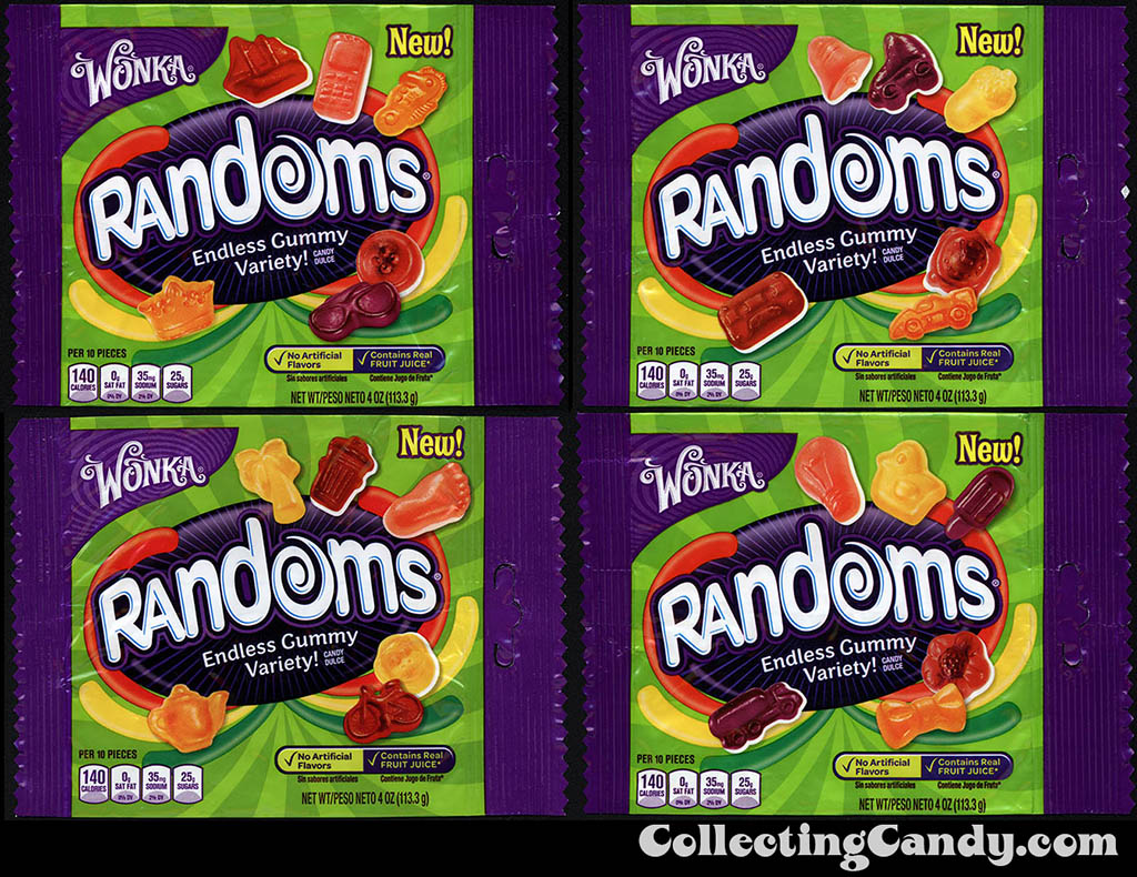 Nestle - Wonka - Randoms - 4oz pack variety - 2014