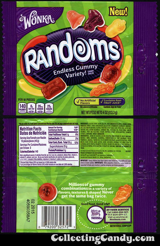 Nestle - Wonka - Randoms - Cassette Tape pack - NEW - 4oz gummy candy package - 2014