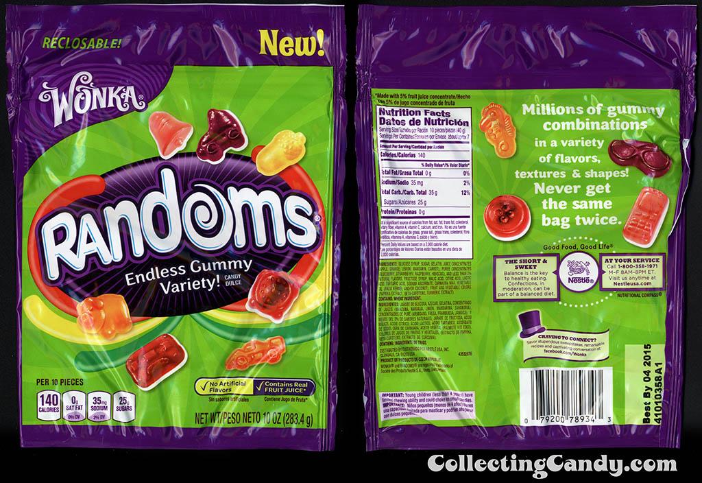 Nestle - Wonka - Randoms - Piggy Bank pack - NEW - 10oz gummy candy package - 2014