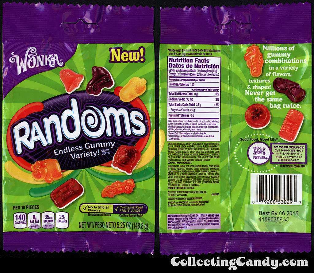 Nestle - Wonka - Randoms - Piggy Bank pack - NEW - 5.25oz gummy candy package - 2014