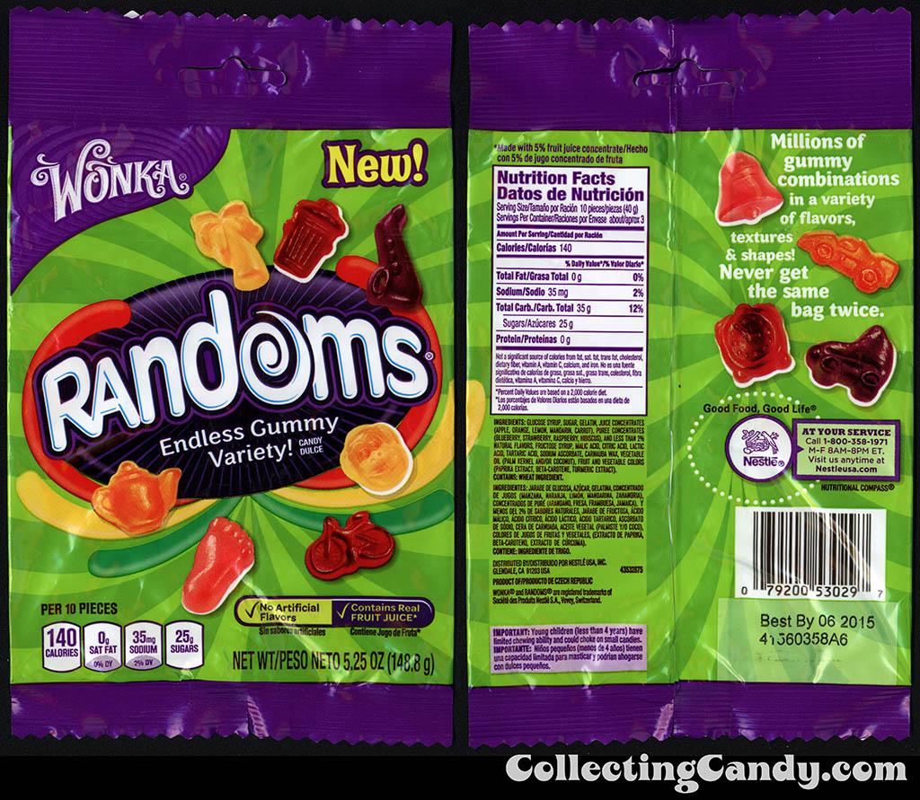 Nestle - Wonka - Randoms - Teapot pack - NEW - 5.25oz gummy candy package - 2014