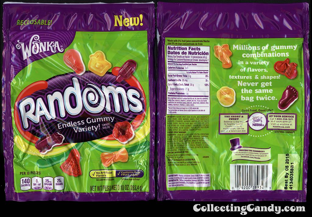 Nestle - Wonka - Randoms - Truck pack - NEW - 10oz gummy candy package - 2014