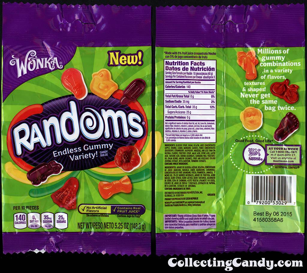 Nestle - Wonka - Randoms - Truck pack - NEW - 5.25oz gummy candy package - 2014