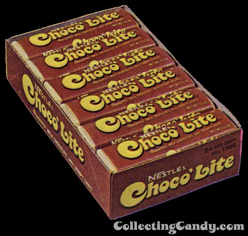Choco'Lite 1974-75 display box isolated