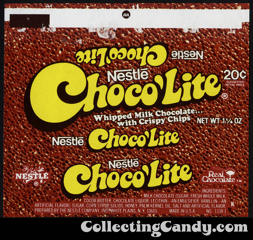 Nestle - Choco'Lite - 20-cent 1 1/4 oz chocolate candy bar wrapper - 1977