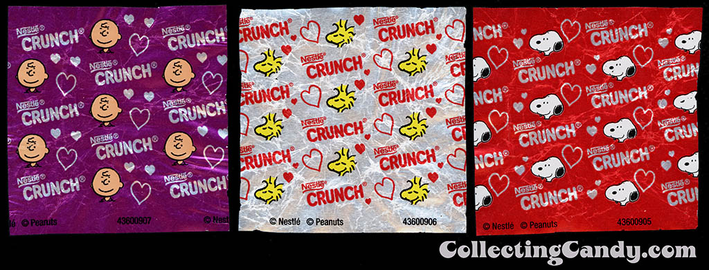 Nestle - Crunch - Hearts - Peanuts - individual foil wrappers - February 2015
