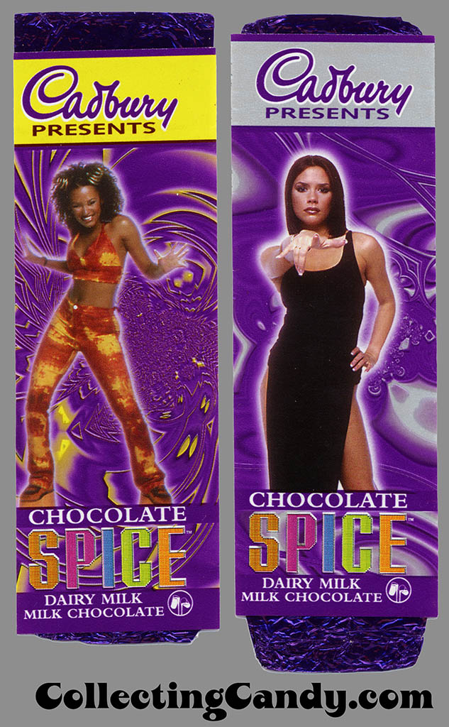 UK - Cadbury Spice Girls wrappers with purple foil inner wrappers - 1997