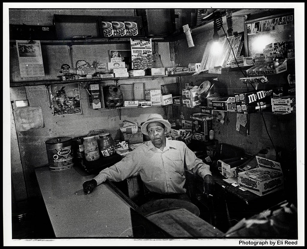 Detroit Candy Store Man - 1980 - photographer Eli Reed