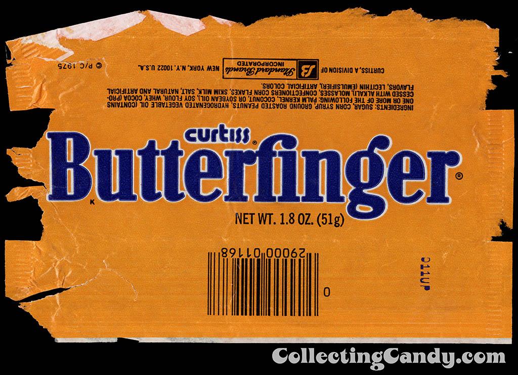 Curtis - Standard Brands - Butterfinger - 1_8 oz chocolate candy bar wrapper - 1980