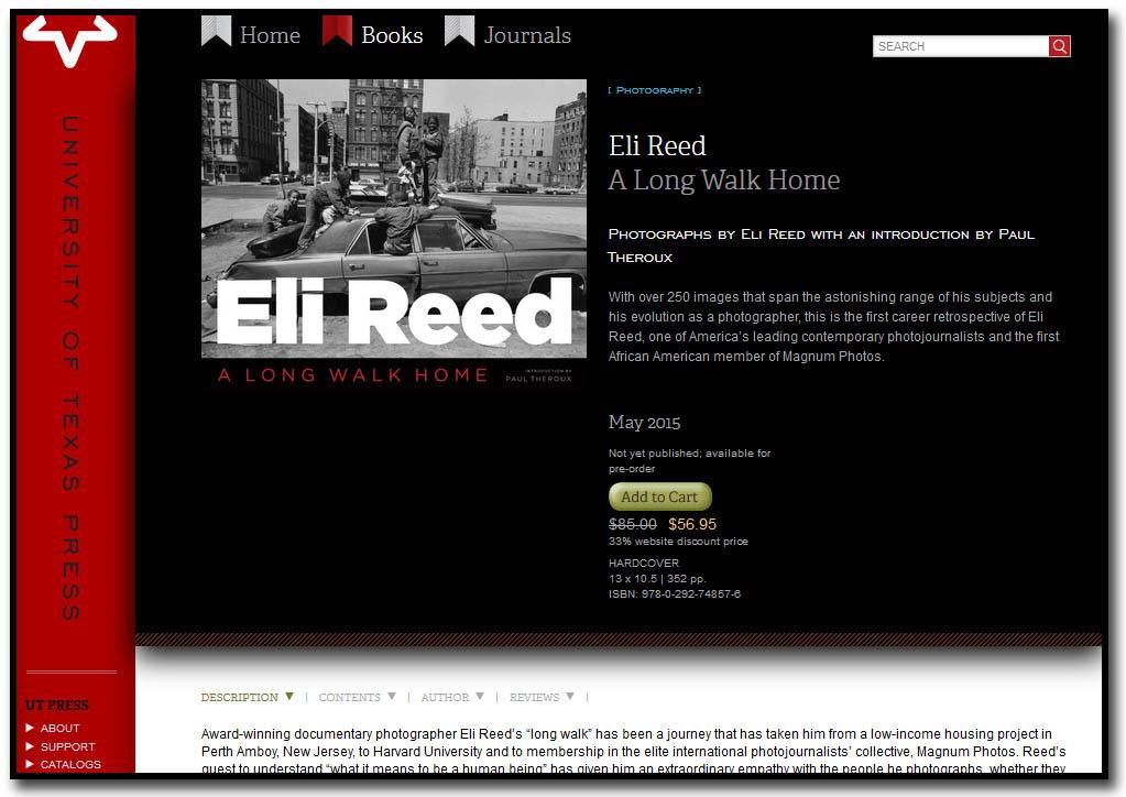 Eli Reed - A Long Walk Home - Coming May 2015